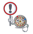with sign dartboard stuck to the cartoon wall vector image