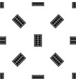 wooden latticed window pattern seamless black vector image