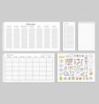 work week set of papers vector image vector image