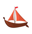 yacht sailboat or sail boat marine cruise travel vector image