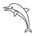 dolphin line icon sign on vector image