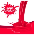 Red strawberry cherry juice vector image