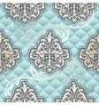 Seamless Rococo floral in blue vector image