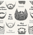 seamless pattern with beards and mustaches hand vector image