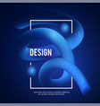 3d gradient design colorful abstract composition vector image