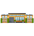 A building with green plants vector image vector image