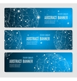 Abstract Glowing Sphere Banner Horizontal vector image vector image