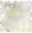 Abstract holiday Christmas golden light background vector image vector image