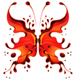 Abstract red butterfly blot for design vector image vector image