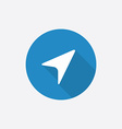 arrow pointer Flat Blue Simple Icon with long vector image vector image