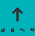 arrow up icon flat vector image