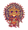 aztec warrior vector image