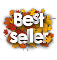Best seller background with maple leaves vector image vector image