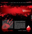 blood web vector image vector image