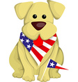 Cartoon usa dog vector image vector image