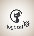 cat logo 4 vector image vector image