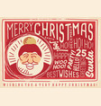 christmas card design with santa claus vector image