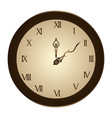 circular frame with wall clock vector image vector image