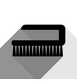 cleaning brush hygiene tool sign black vector image