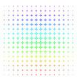 collide arrows shape halftone spectral grid vector image vector image
