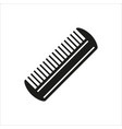 comb icon isolated on white background vector image vector image