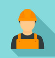 construction man icon flat style vector image