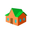 Cottage cartoon icon vector image vector image