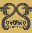 dragon tattoo drawing vector image vector image