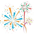 Firework color vector image vector image