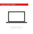 flat icon laptop for web business finance and vector image vector image