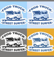 food truck stickers vector image vector image