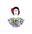 friday kahlo portrait mexican woman vector image vector image