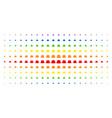 gentleman hat spectral halftone grid vector image vector image