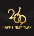 golden happy new year background vector image vector image