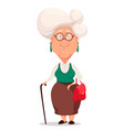 grandmother wearing eyeglasses vector image