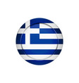 greek flag on the round button vector image