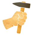 hand and hammer vector image