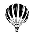 hand drawn sketch hot air balloon in black vector image