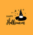 happy halloween banner card label vector image vector image