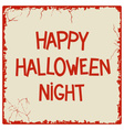 Happy Halloween Night vector image