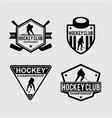 hockey logo badges vector image