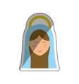 Holy virgin mary cartoon vector image vector image