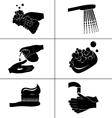 Icons of hygiene vector image