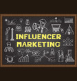 influencer marketing vector image vector image
