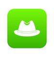 man hat icon digital green vector image vector image