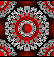 mandalas seamless pattern floral ornamental vector image vector image
