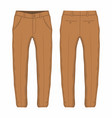 mens brown trousers vector image vector image