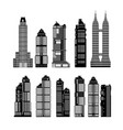 modern city skyscrapers vector image vector image