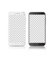 modern realistic black and white smartphone vector image vector image