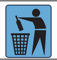 no litter or separately recycle bin sign vector image vector image